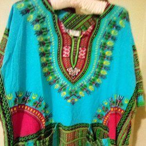 Wonder Wear Dashiki Type Top Size Large